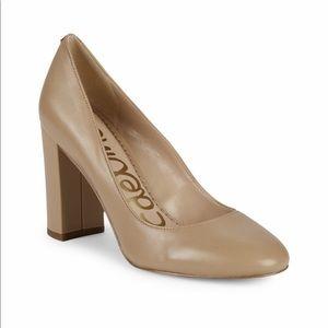 Sam Edelman stillson leather block heel pumps